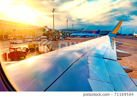 Travel by plane and airport 71169584