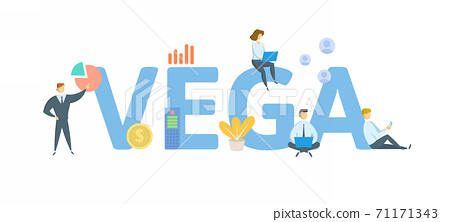 Vega. Concept with keyword, people and icons. Flat vector illustration. Isolated on white. 71171343