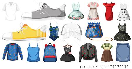 Set of clothes mock up 71172113