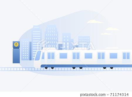 지하철 벡터일러스트 71174314
