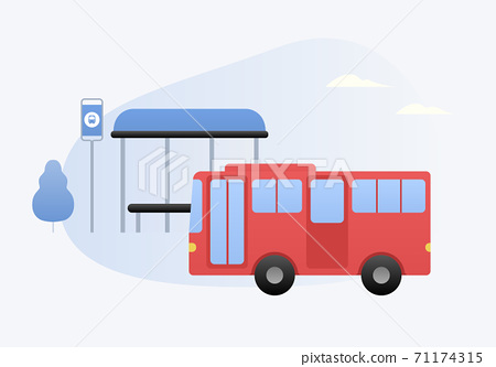 巴士矢量圖 71174315