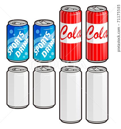 飲料罐插圖與主線1 71175585