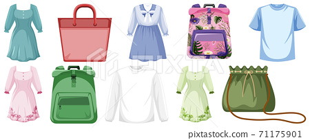 Set of clothes mock up 71175901
