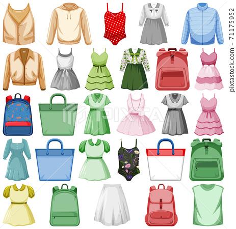 Set of fashion outfits 71175952