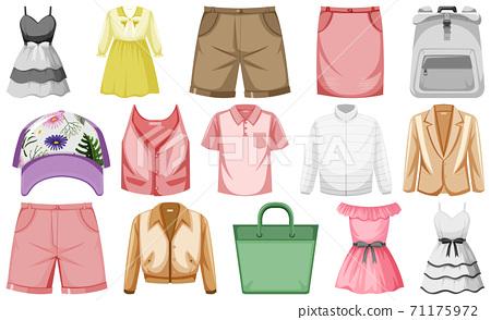 Set of clothes mock up 71175972