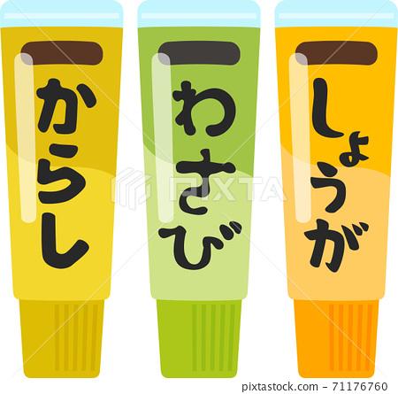 Tubed ginger, wasabi, mustard 71176760