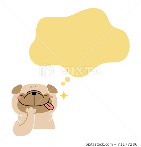帕格狗在想像一場盛宴中歡欣鼓舞 71177286