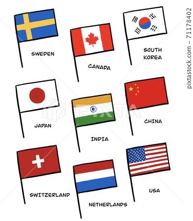 국기의 일러스트 71178402