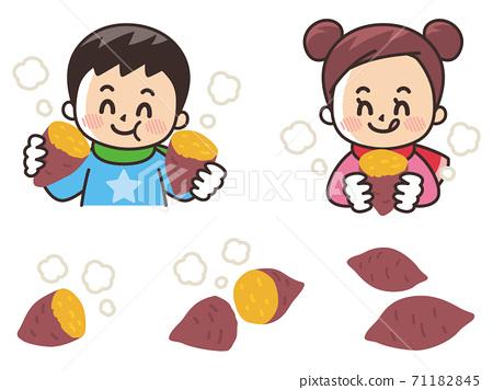吃烤紅薯的孩子 71182845