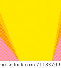 핑크와 오렌지의 물방울과 노란색 복사 공간 배경 71183709