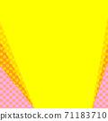 핑크와 오렌지의 물방울과 노란색 복사 공간 배경 71183710