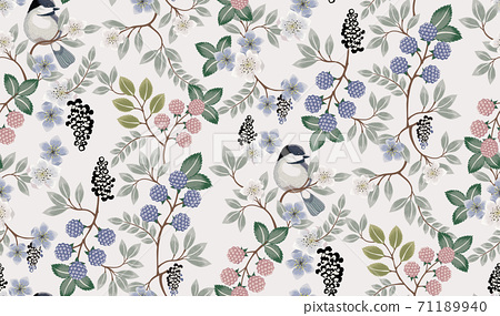 Vector illustration of seamless floral pattern in spring  71189940