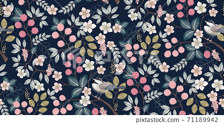 Vector illustration of seamless floral pattern in spring  71189942