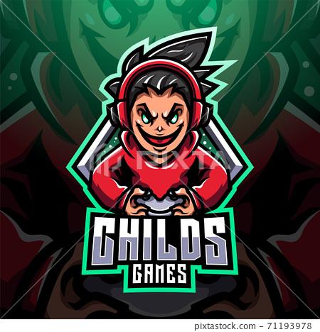 Childs gamer esport mascot logo design 71193978