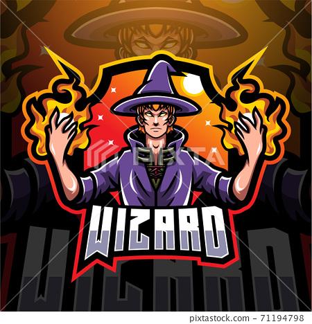 Wizard esport mascot logo design 71194798