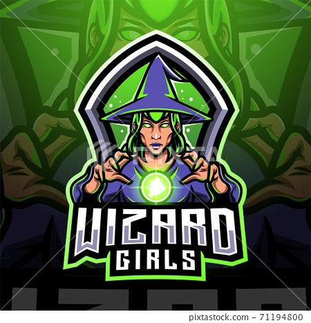 Wizard girls esport mascot logo design 71194800
