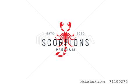 scorpion outline line art modern logo vector icon illustration design 71199276