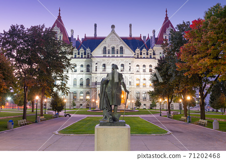 Albany, New York, USA at the New York State Capitol 71202468