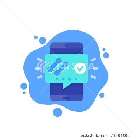 Fitness app notification, training tracker icon 71204800