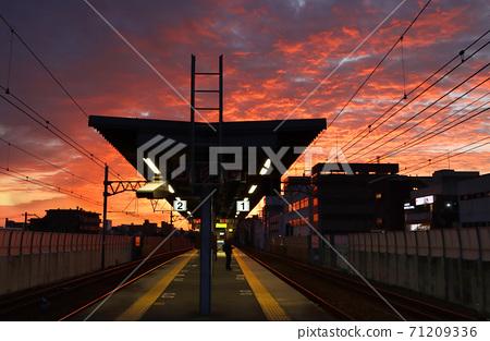 새벽의 사쿠라 슈쿠가와 역 71209336