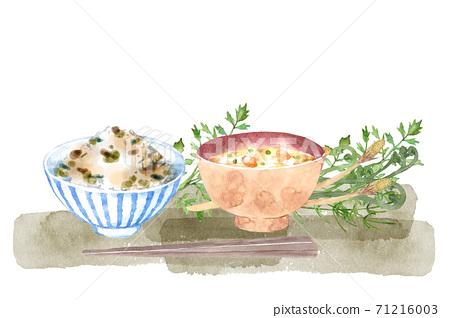 山名稻設置水彩插圖 71216003