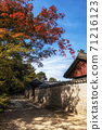 Autumn fall foliage in Jongmyo Shrine 71216123