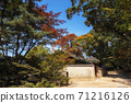 Autumn fall foliage in Jongmyo Shrine 71216126