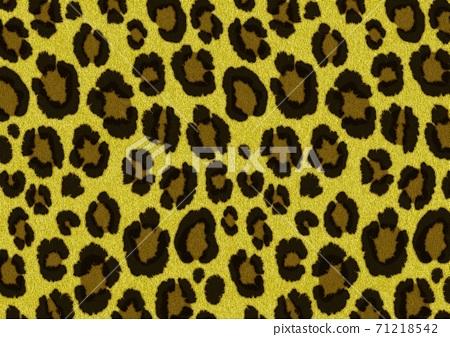 豹紋豹紋背景紡織圖黃色 71218542