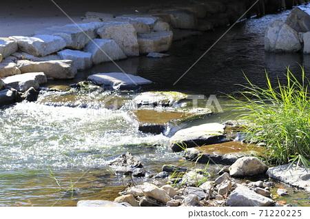 시냇물이 흐르는 아름다운 풍경 71220225