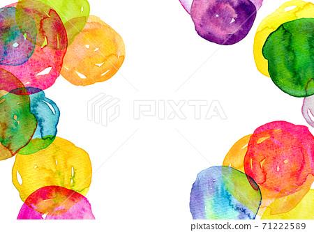 배경 소재 수채화 텍스처 무지개 색 그라데이션 71222589