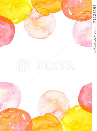 배경 소재 수채화 텍스처 무지개 색 그라데이션 71222592