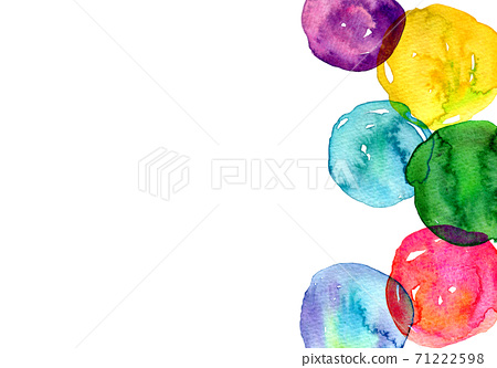 배경 소재 수채화 텍스처 무지개 색 그라데이션 71222598