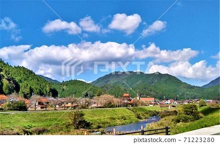 日本最美麗的村莊,精選的300個村莊,城市,鄉鎮的吸引力排名最低,岡山縣新莊村的風景 71223280