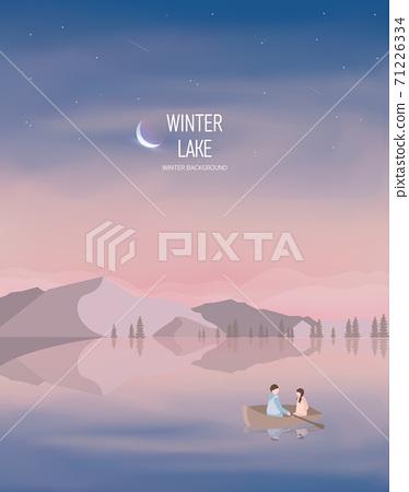 冬季背景插圖11 71226334