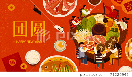 Banner for Chinese reunion dinner 71226943