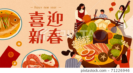 Banner for Chinese reunion dinner 71226946