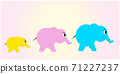 An Illustration elephant family with dad, mom and baby elephant. Vector EPS 10 71227237