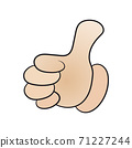 Vector of a hand with the thumb up, Vector EPS 10 71227244