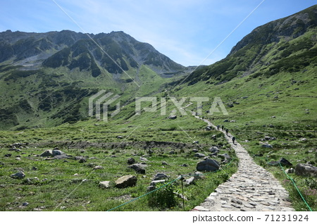 Mountain trail leading to the summit of Tateyama 71231924