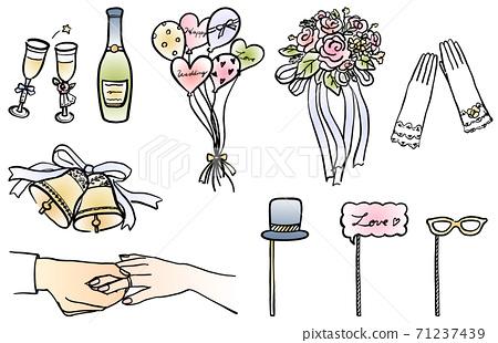 婚禮圖設置線描 71237439
