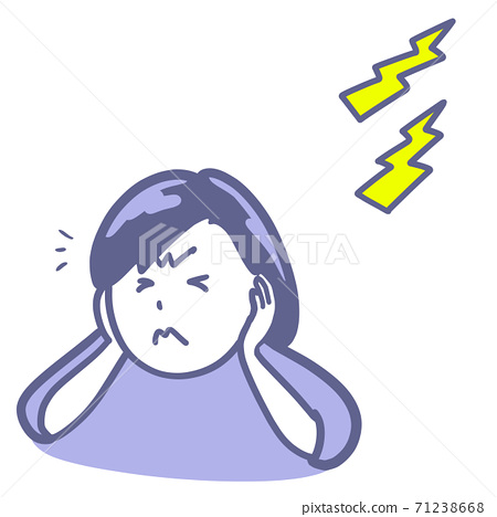 忍受噪音的女性的兩種顏色 71238668