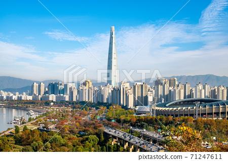 首爾的漢江風光 71247611