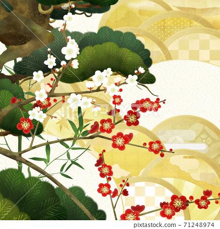 祝賀日本背景-有多種變化 71248974