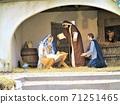 소박한 성탄 극 인형, 이탈리아의 작은 교회에서 71251465