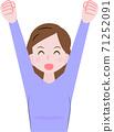 만세를하는 여성 71252091