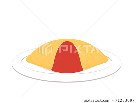 There is a plain ketchup omelet rice dish 71253697