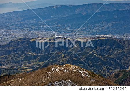 早春從田澤和戶之岳看的大倉嶺和小田原市 71255243
