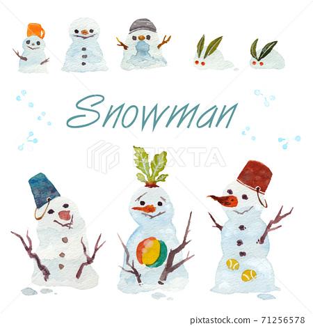 雪人和雪兔 71256578