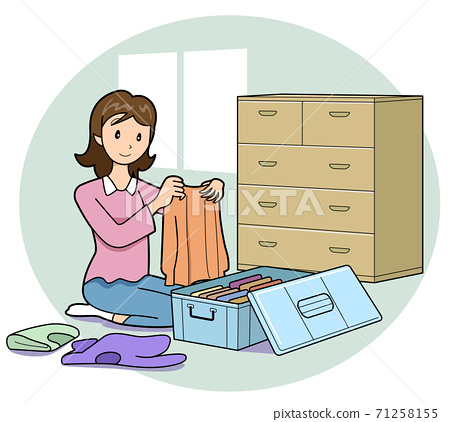Season of changing clothes-Costumes tidy 71258155