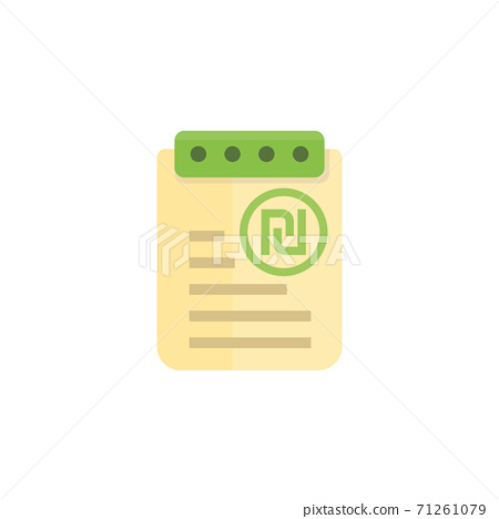 payroll, expense report icon 71261079